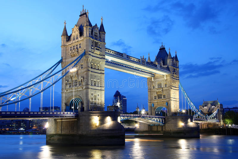 Download Famous Tower Bridge In Evening, London, UK Stock Photo - Image: 19623000