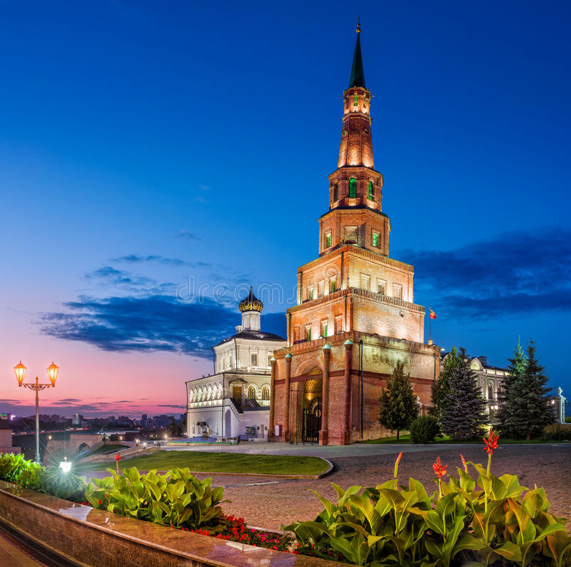 Famous Tower of Kazan royalty free stock photography