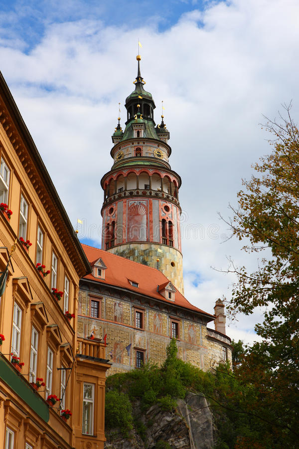 Famous Town,cesky Krumlov In 2011 Summer Royalty Free Stock Photos
