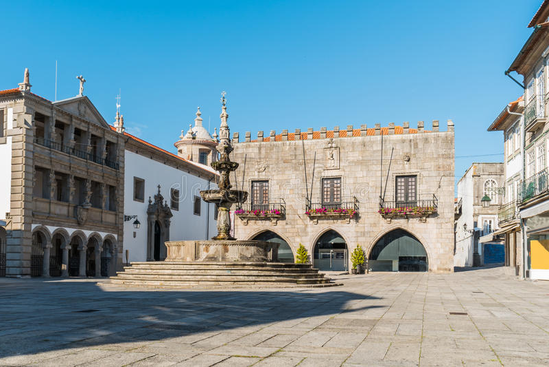 Famous Town Hall at the Praca da Republica in Viana do Castelo, stock image