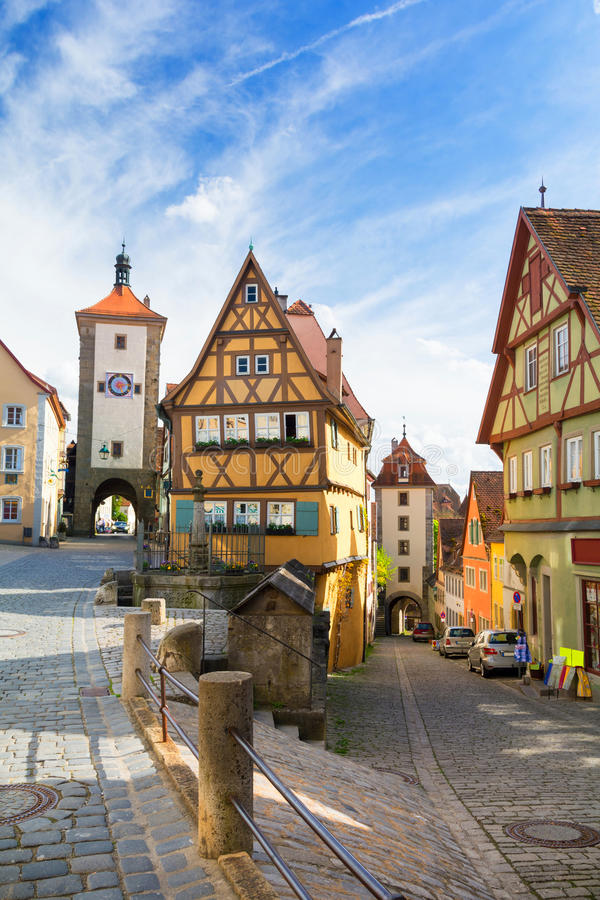 Famous Old Town Of Rothenburg Editorial Stock Photo - Image