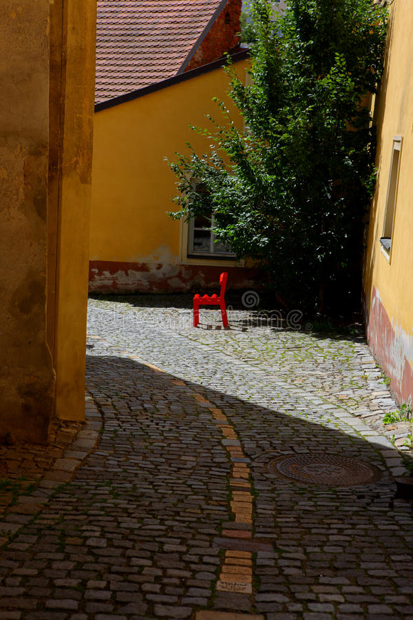 Download Famous Town Street,cesky Krumlov In 2011 Summer Stock Photo - Image: 21505696
