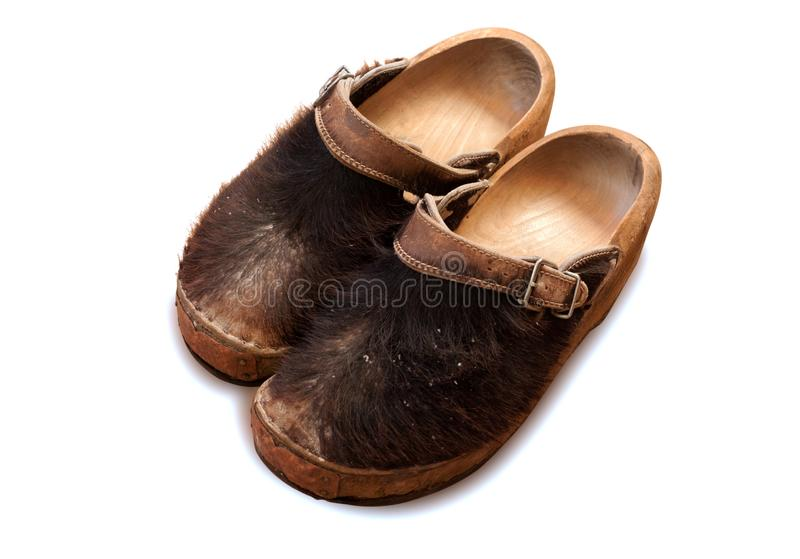 Famous traditional Dutch wooden clog royalty free stock image