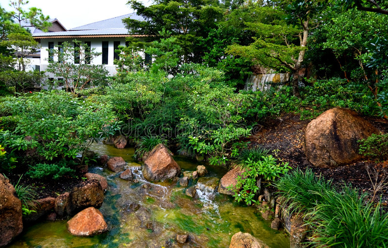 A Famous Traditional Japanese Garden Royalty Free Stock Image