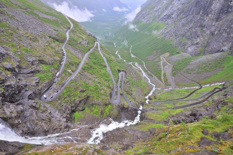 Famous Troll's Path Trollstigen royalty free stock photography