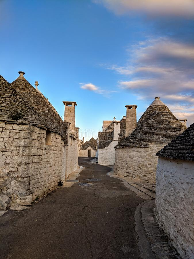 Trulli houses in Alberobello town, Apulia, Italy stock photo