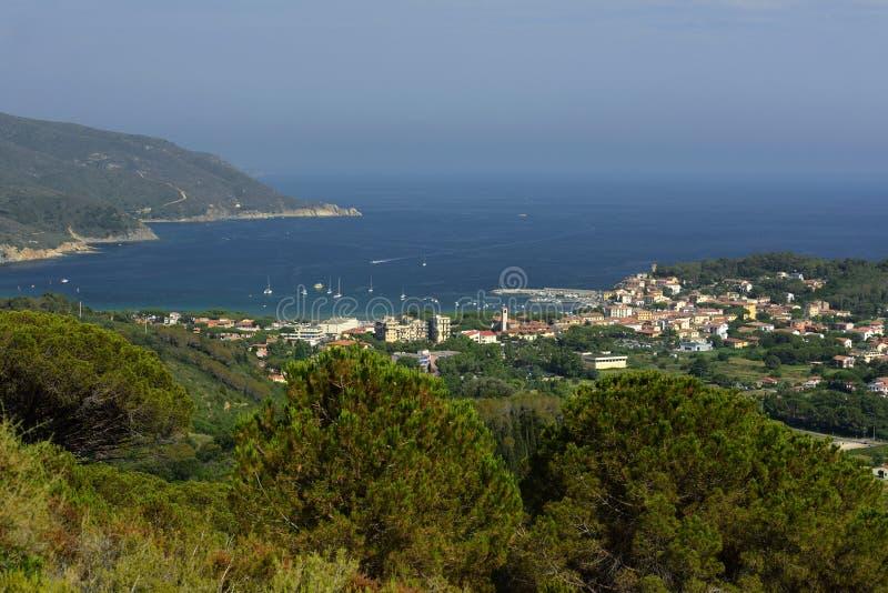 Marina di Campo, Tuscany, Elba, Italy royalty free stock photography