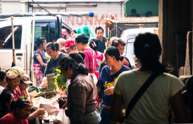 Famous Ubud Market, Bali. stock images