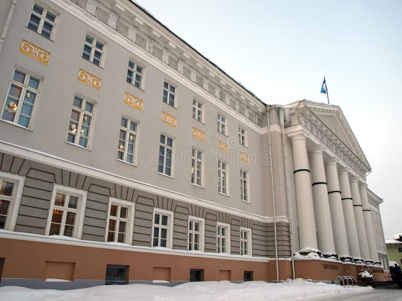 Famous university in Tartu stock photo