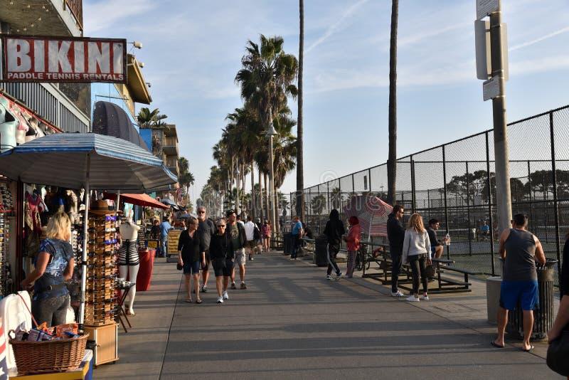 Famous Venice Beach Boardwalk royalty free stock photo