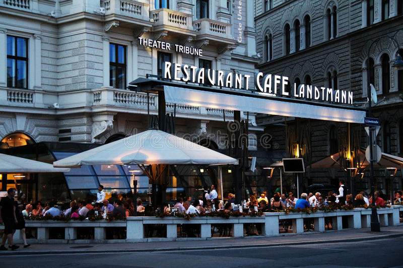 Famous Viennese Cafe Landtmann royalty free stock image
