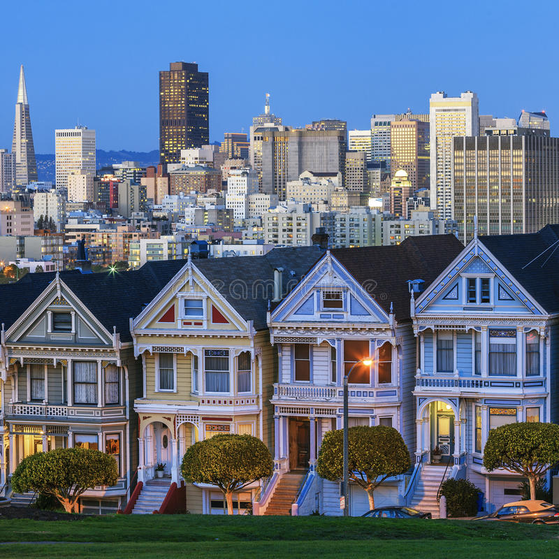 Famous view of San Francisco. USA stock photography