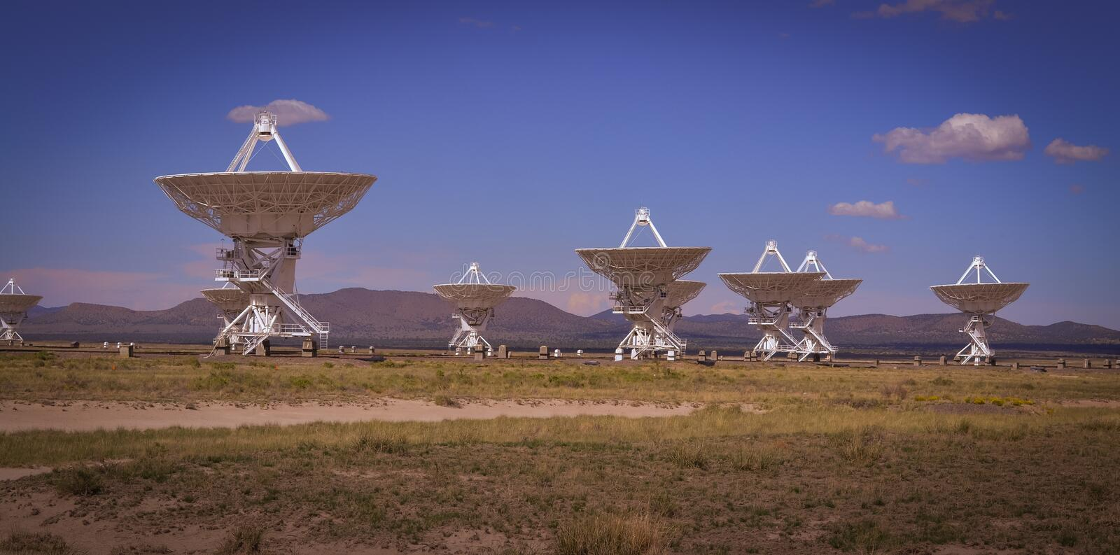 The famous VLA Very Large Array near Socorro New Mexico stock images