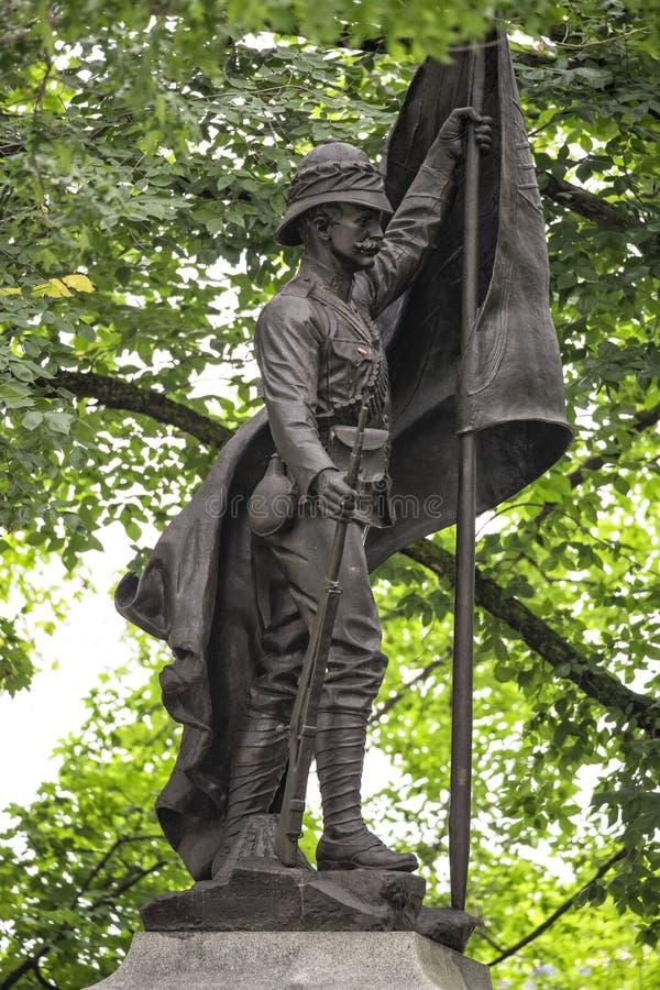 Famous war statue in Quebec City, Canada. Of British empire stock photos