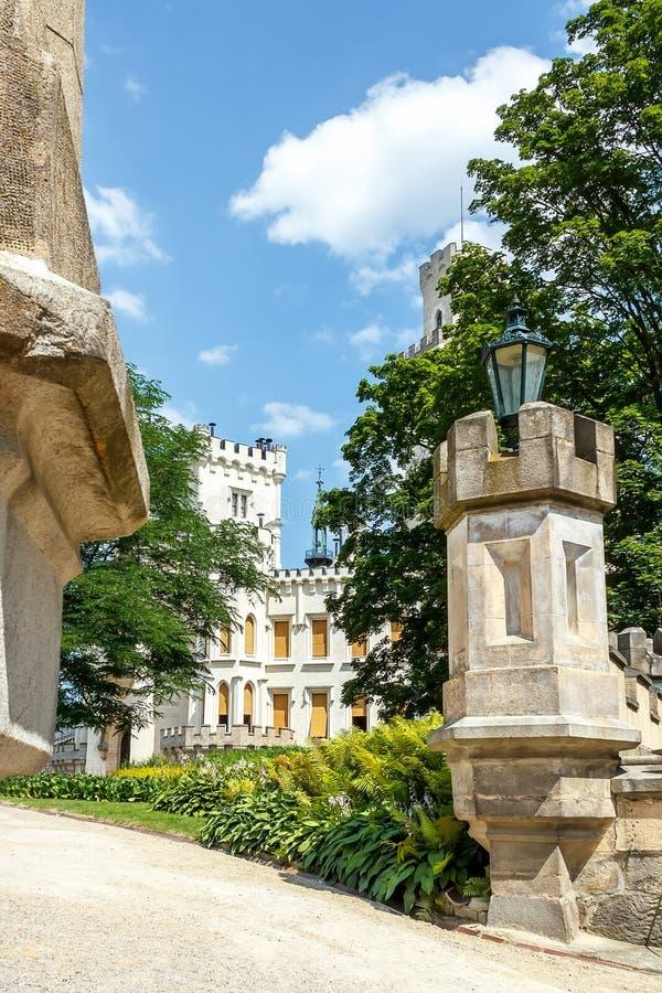 Famous white castle Hluboka nad Vltavou. Czech Republic royalty free stock images