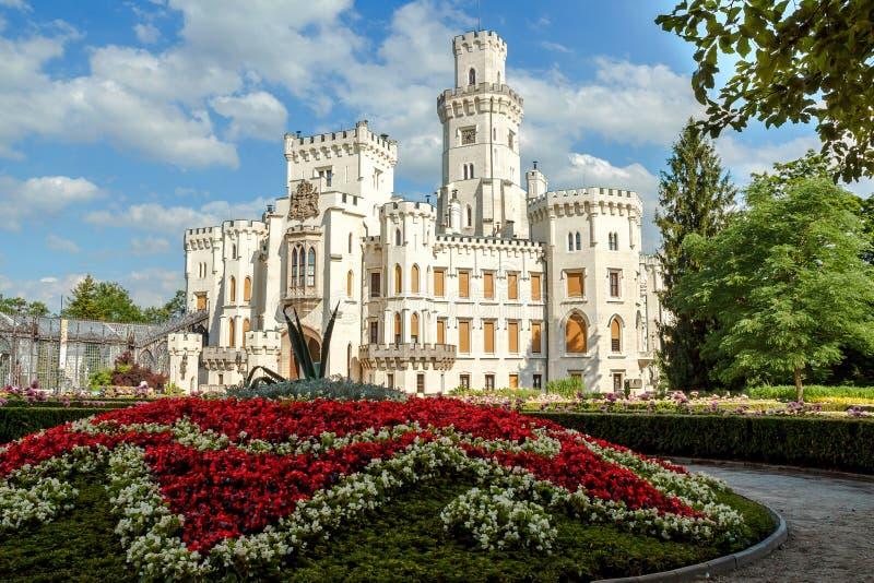 Famous white castle Hluboka nad Vltavou. Czech Republic royalty free stock image