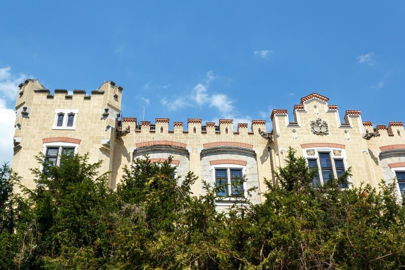 Famous white castle Hluboka nad Vltavou. Czech Republic stock photography