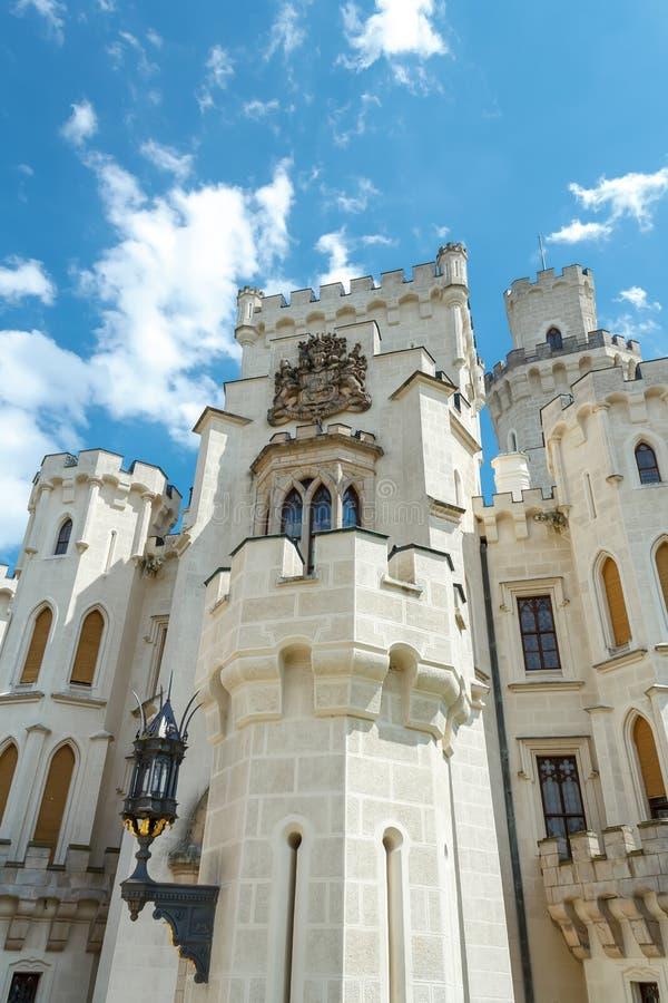 Famous white castle Hluboka nad Vltavou. Czech Republic royalty free stock photo