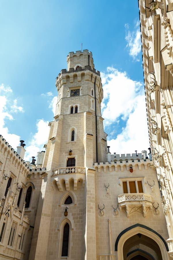 Famous white castle Hluboka nad Vltavou. Czech Republic royalty free stock photography