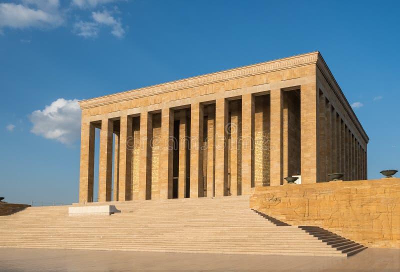 Famouse Ataturk mauzoleum Anitkabir, monumentalny grobowiec Mustafa Kemal Ataturk, pierwszy prezydent Turcja w Ankara zdjęcia stock