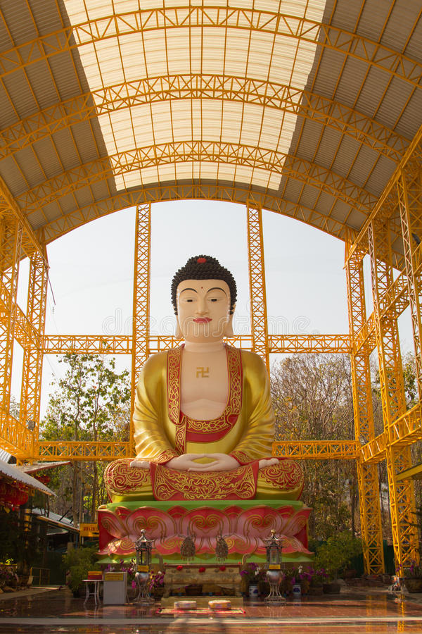 Famouse Big Buddha in Chinese Temple at Phitsanulok, Thailand. Famouse Big Buddha in Chinese Temple at Thailand royalty free stock photos