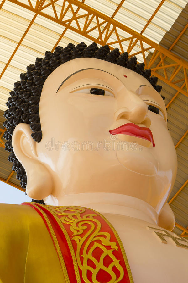 Famouse Big Buddha in Chinese Temple at Phitsanulok, Thailand. Famouse Big Buddha in Chinese Temple at Thailand stock photos