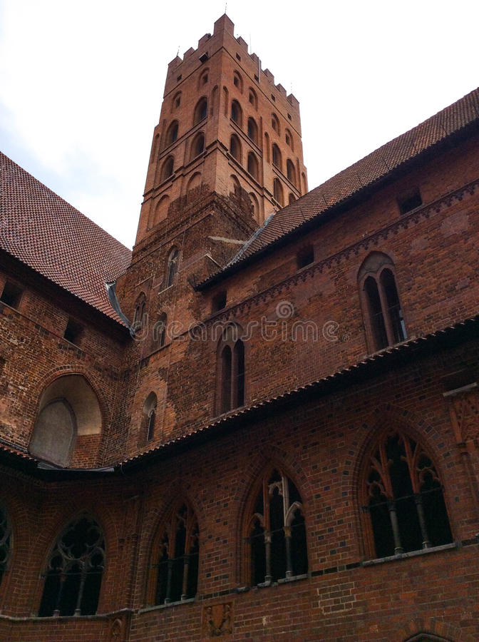 Famouse castel in Malbork. / Marienburg, Poland stock photography