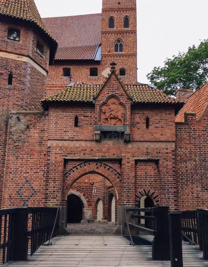 Famouse castel w Malbork obraz stock