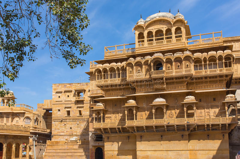 Famouse Dussehra Chowk inside Jaisalmer fort. India stock photos