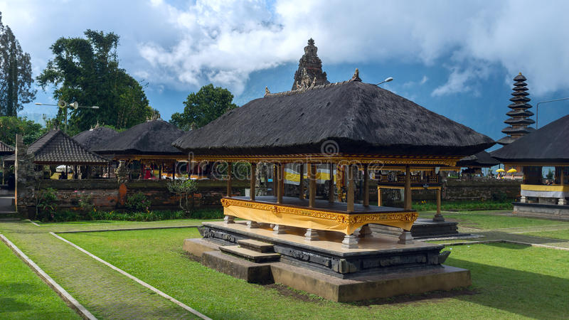 Famouse temple in Bali. Famouse temple in island Bali stock photography
