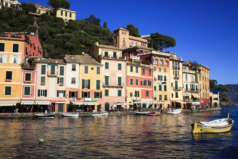 The famouse village of Portofino in Ligury, Genova, Liguria, Italy, Europe. PThe famouse village of Portofino in Ligury, Genova, Liguria, Italy, Europe royalty free stock images