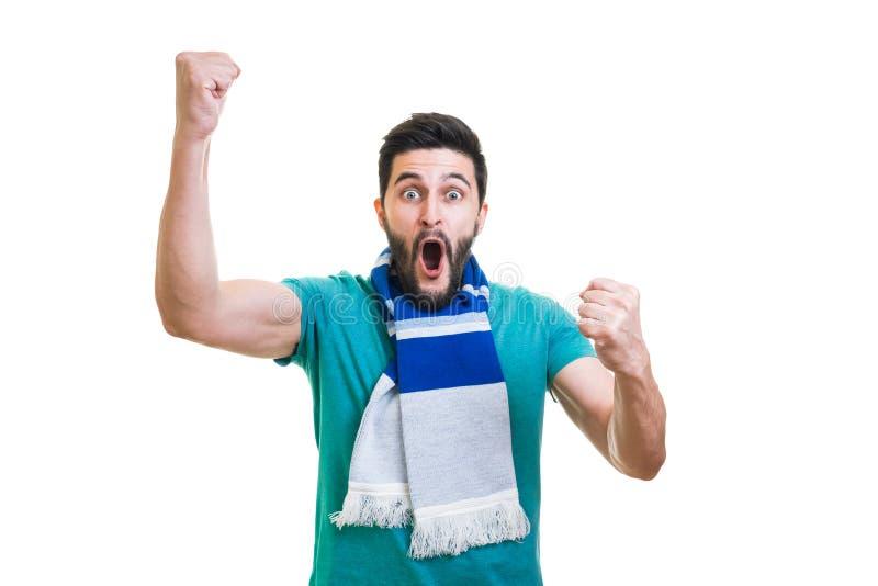 Fanático del fútbol barbudo fotografía de archivo libre de regalías