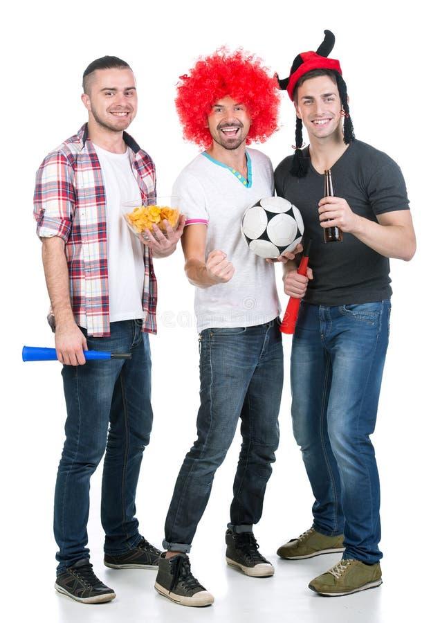 Fanáticos del fútbol imagen de archivo