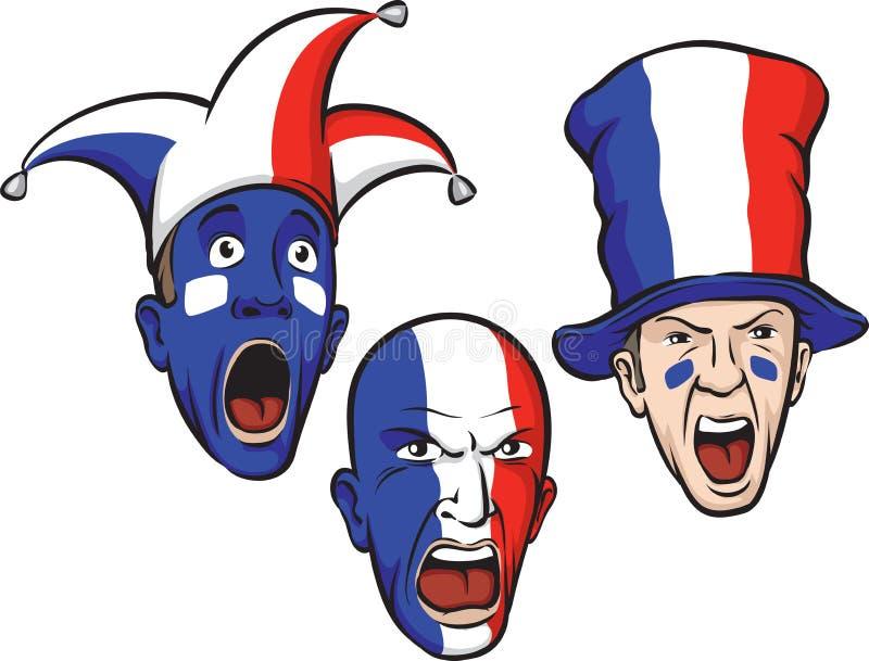 Fanáticos del fútbol de Francia ilustración del vector