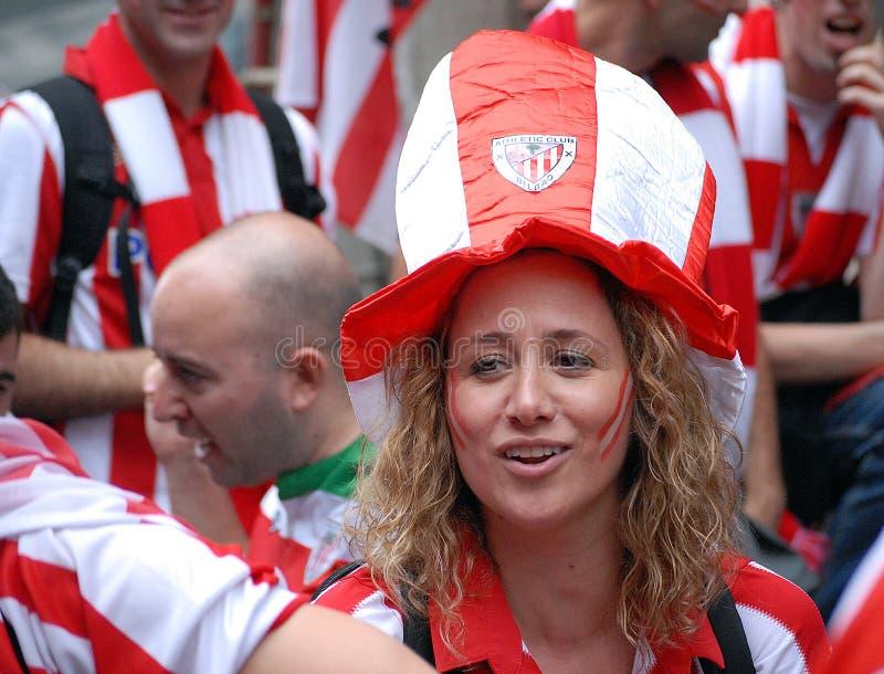 Fanáticos del fútbol femeninos imagen de archivo libre de regalías