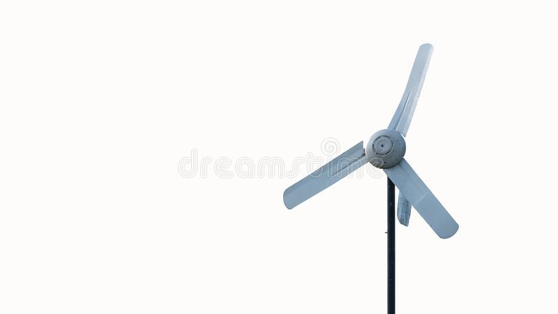 Fan in the air with a white background. Aerial fan pole with a white background stock photo