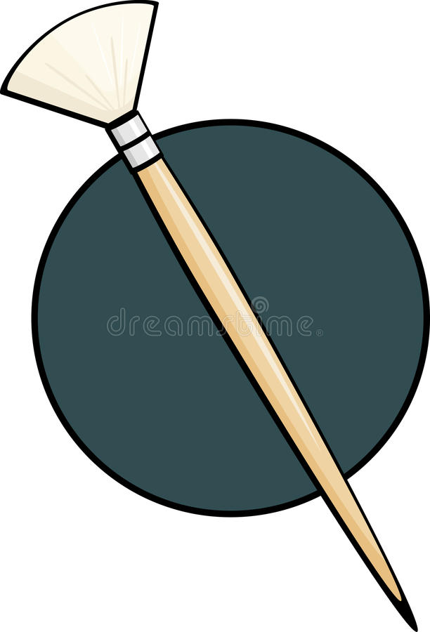 Download Fan art brush stock vector. Image of painting, utility - 20972459