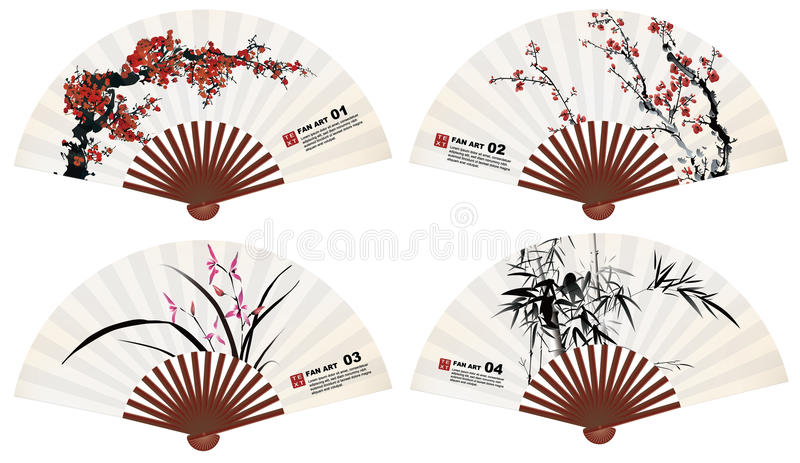 Download Fan art stock photo. Image of cherry, chinese, asian - 31925558