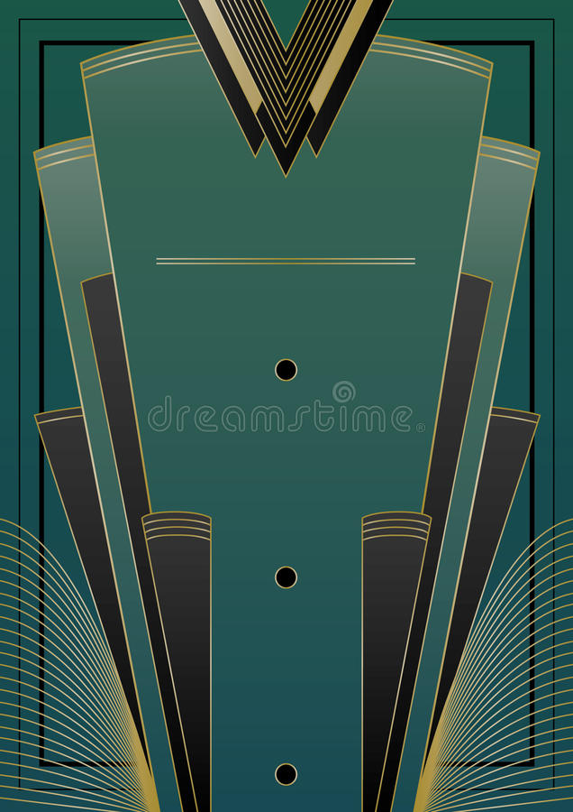 Fan art deco tło