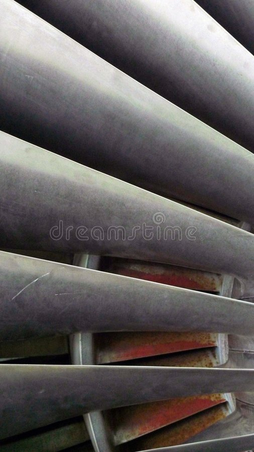 Fan blades. Close-Up of Jet engine fan blades royalty free stock photography