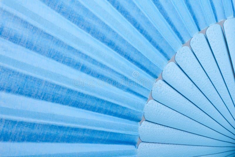 Fan blu di flamenco fotografie stock