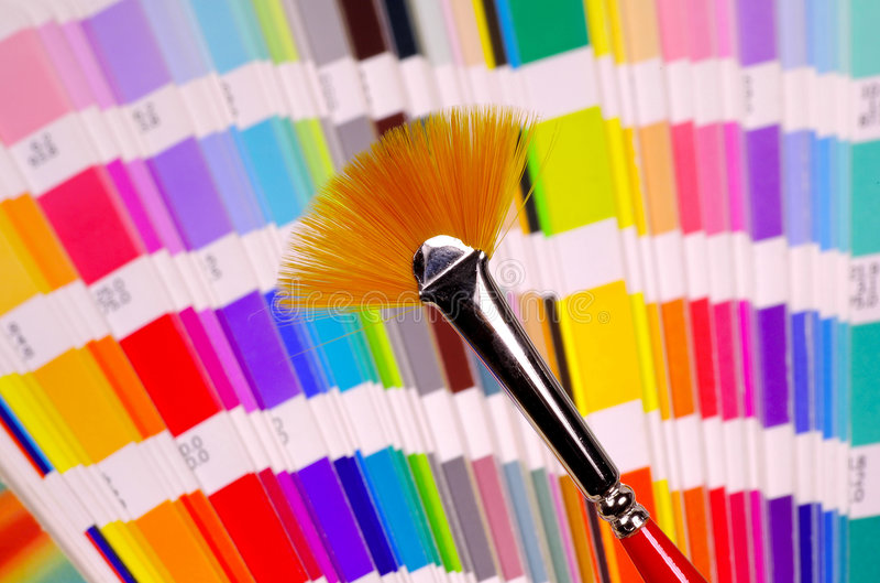 Fan Brush stock image