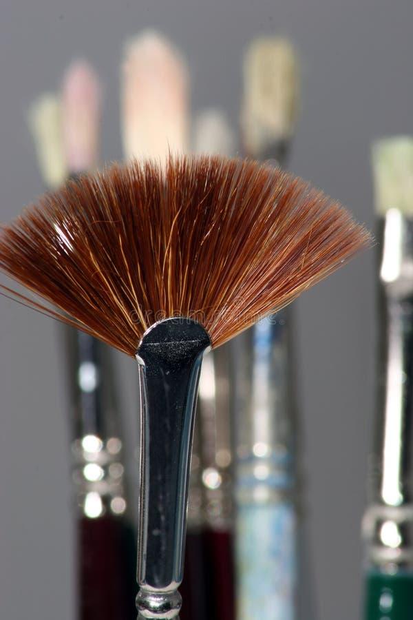 Download Fan Brush stock photo. Image of fashion, beauty, brushes - 80714