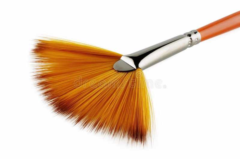 A fan brush royalty free stock image