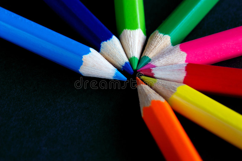 Download Fan of colour stock photo. Image of yellow, blue, craft - 77688