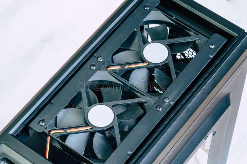 Fan Cooler Desktop Pusta Komputerowa skrzynka z Cooler zdjęcia royalty free