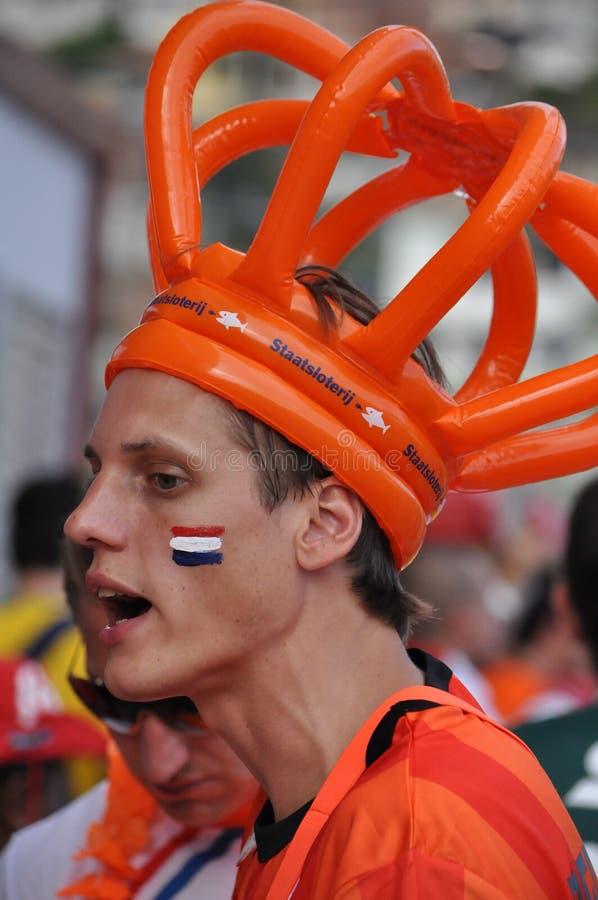 Fan de futebol holandês fotografia de stock royalty free