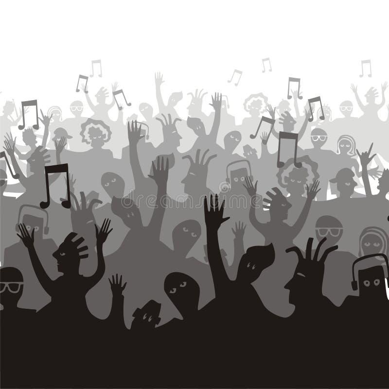 Fan de musique illustration stock
