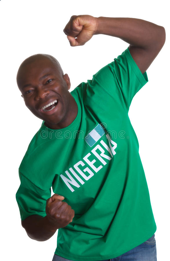 Fan de sports folle du Nigéria images stock