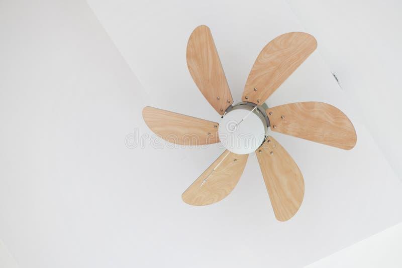 Fan de techo eléctrica con la lámpara fotografía de archivo libre de regalías
